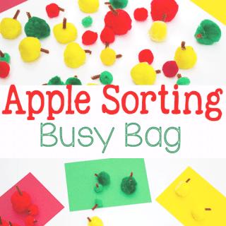 Apple Sorting Busy Bag