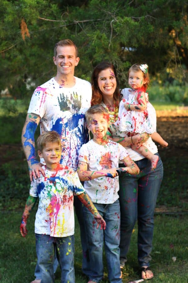 Family Paint Fight Photos