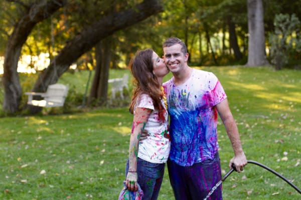 Family Paint Fight Photos