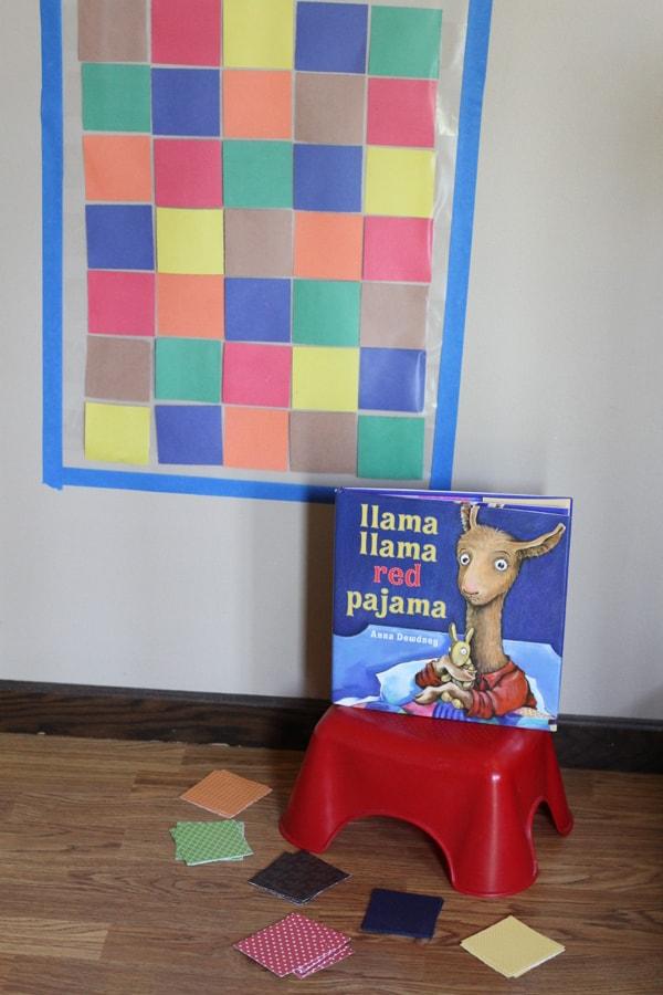 Llama Llama Red Pajama Quilt Color Matching