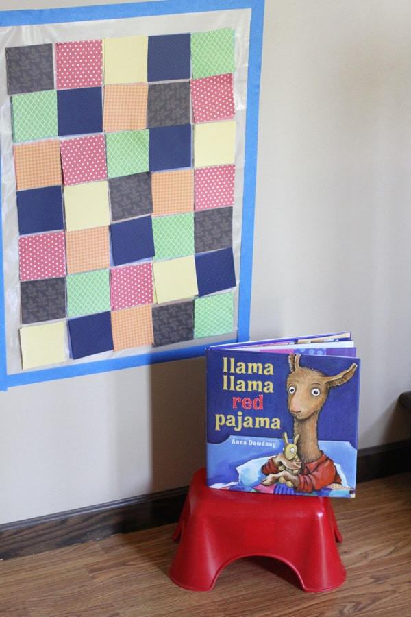 Llama Llama Red Pajama Quilt Color Matching