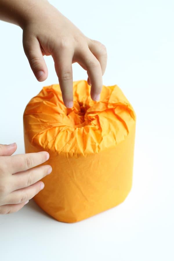 Toilet Paper Pumpkin
