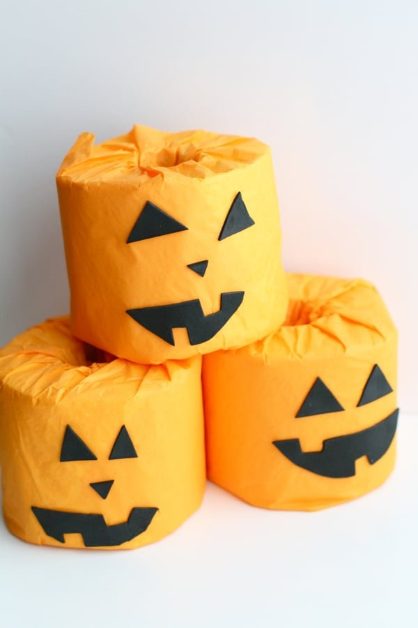 Toilet Paper Pumpkin Rolls Craft