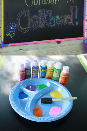 Outdoor Chalkboard Plus 5 Easy Learning Activities