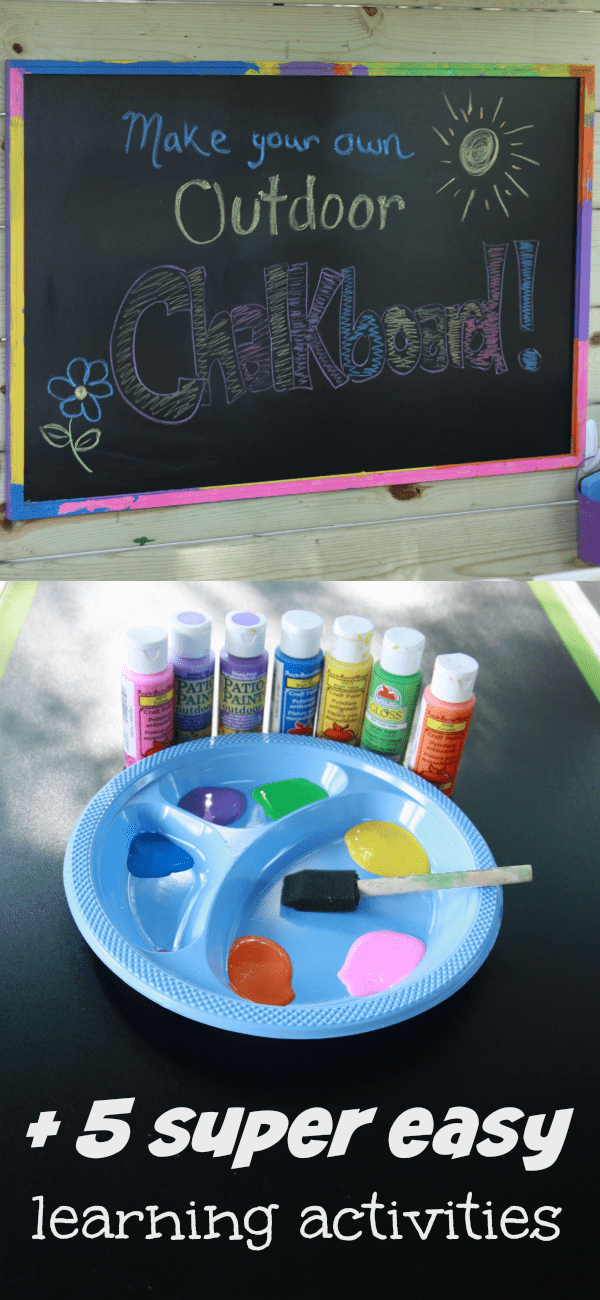 Outdoor Chalkboard Long