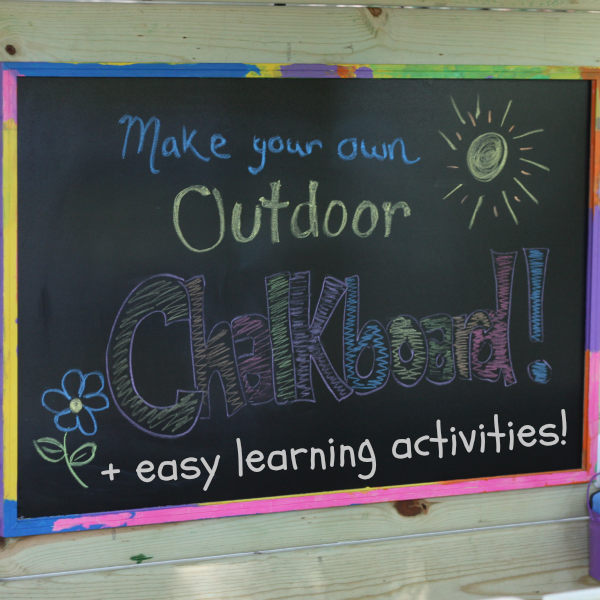 Outdoor Chalkboard Square