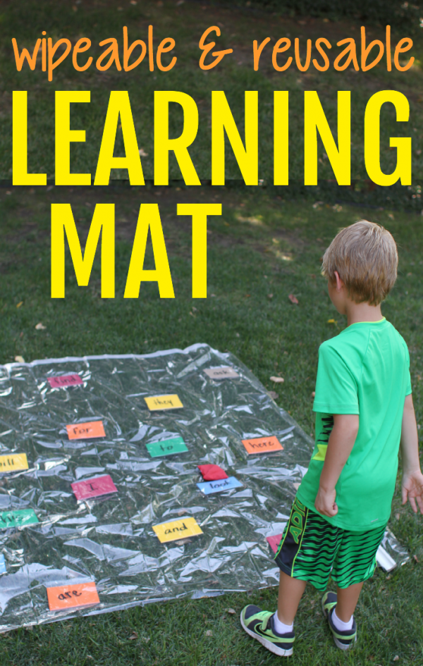 Reusable and Wipeable Learning Mat