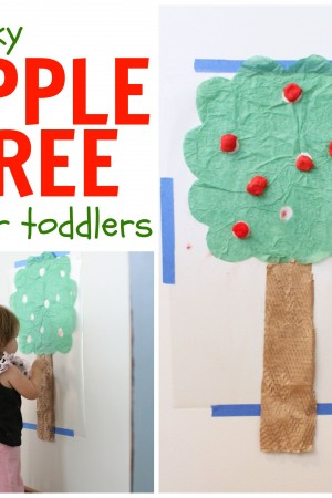 Sticky Apple Tree for Toddlers