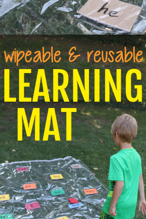 Wipeable and Reusable Learning Mat