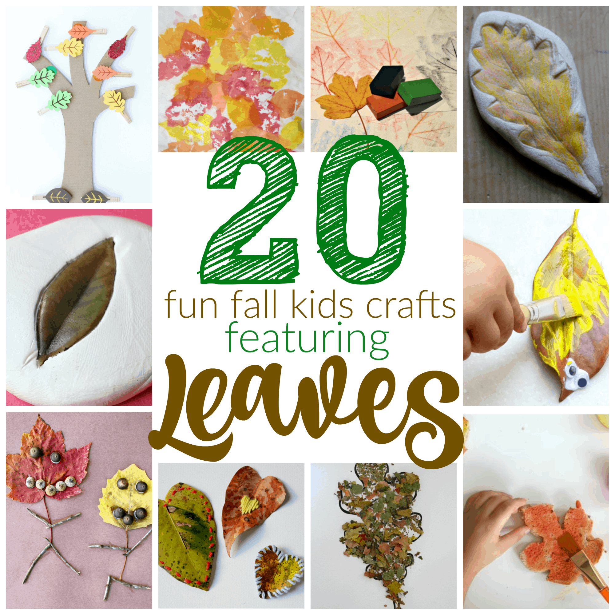 20 Fun Fall Crafts with Leaves