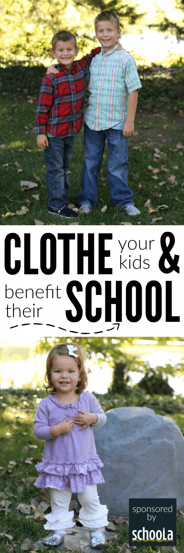 Clothe your Kids and Benefit their School with Schoola