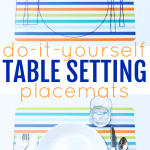 DIY Table Setting Placemats