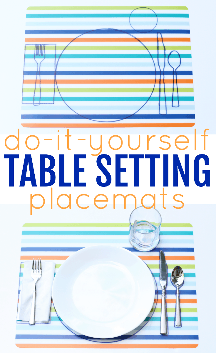 Diy Table Setting Placemats I Can Teach My Child