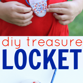 DIY Treasure Locket made from a Dental Floss Container