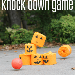 Jack-O-Lantern Knock Down Game