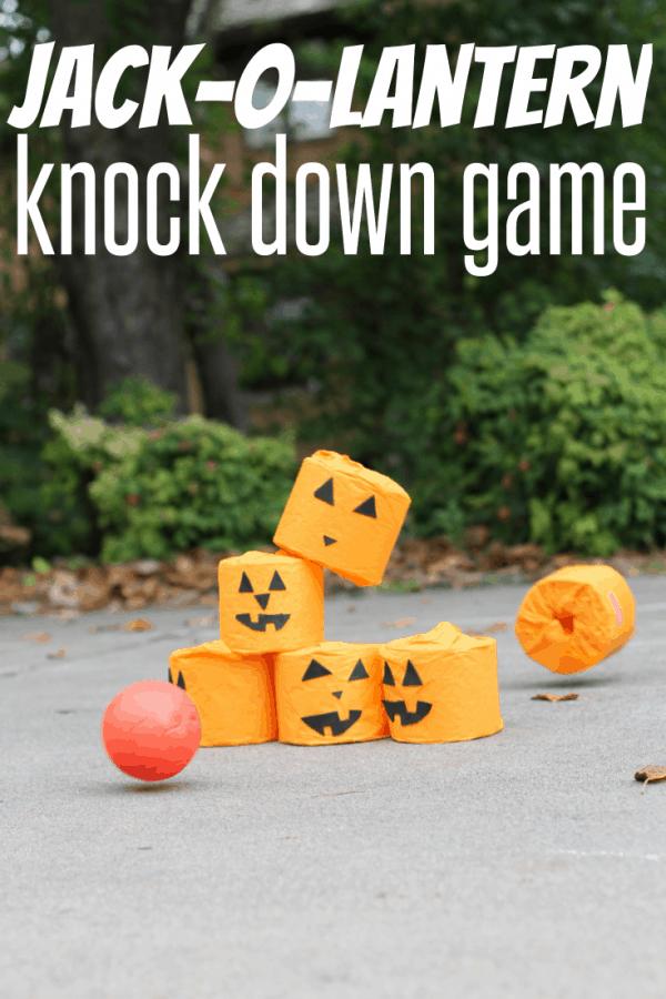 Jack-O-Lantern Knock Down Game