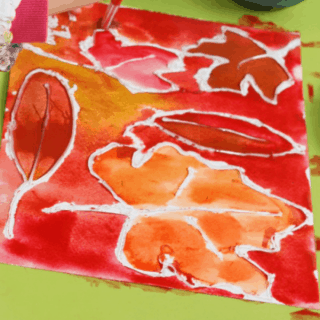 Leaf Walk Watercolor Art