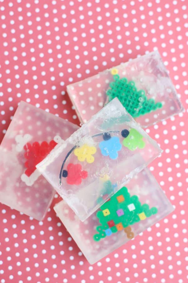 Perler Bead Christmas Soap Easy Gift For Kids To Make I