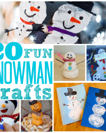 20 Fun Snowman Crafts For Kids