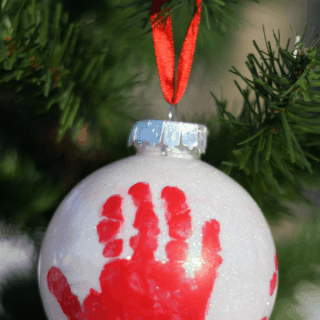 Crafts archives i can teach my child handprint ornament for babys first christmas solutioingenieria Images