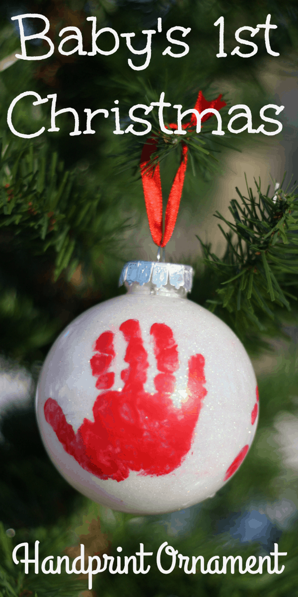 Handprint Ornament For Babys First Christmas I Can Teach My Child