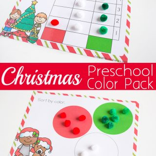 Christmas Color Sorting Pack for Preschoolers