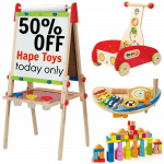 50% off Hape Toys Today Only