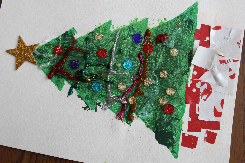 Christmas Tree Stencil Art - I Can Teach My Child!