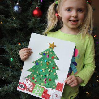 Christmas Tree Stencil Art