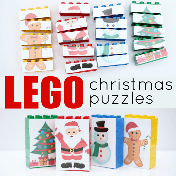 LEGO Christmas Puzzles square