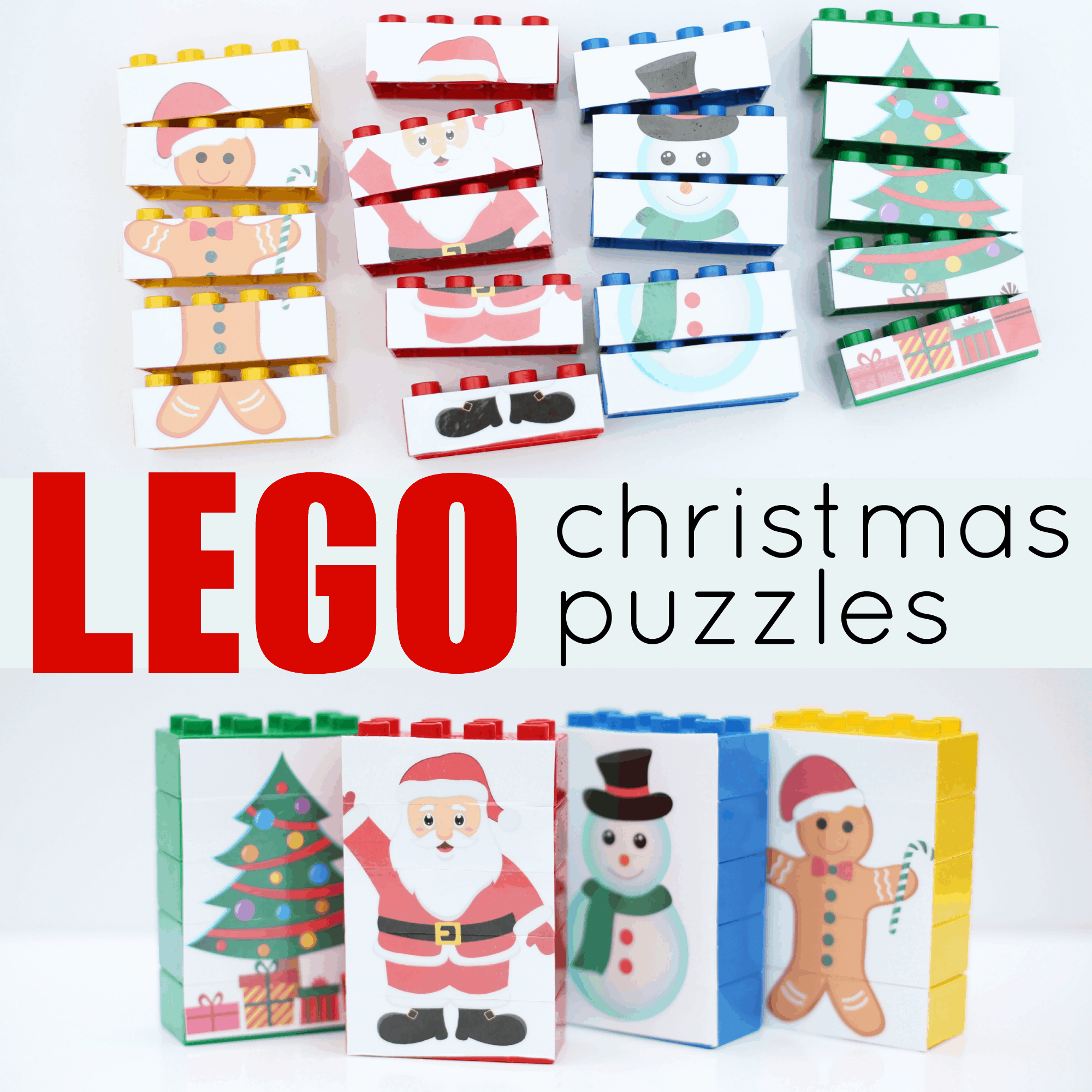 image regarding Christmas Puzzles Printable titled LEGO Xmas Puzzles - I Can Prepare My Little one!