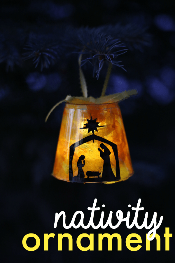 Lighted nativity ornament i can teach my child for Nativity crafts to make