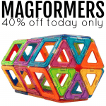 Magformers:  40% off today only