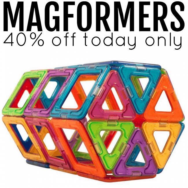 Magformers 40 percent off