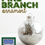 Why Christmas Trees Aren't Perfect:  Living Pine Branch Ornament