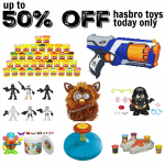 Up to 50% off Hasbro Toys Today Only