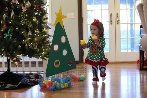 Christmas Tree Ball Sort For Toddlers