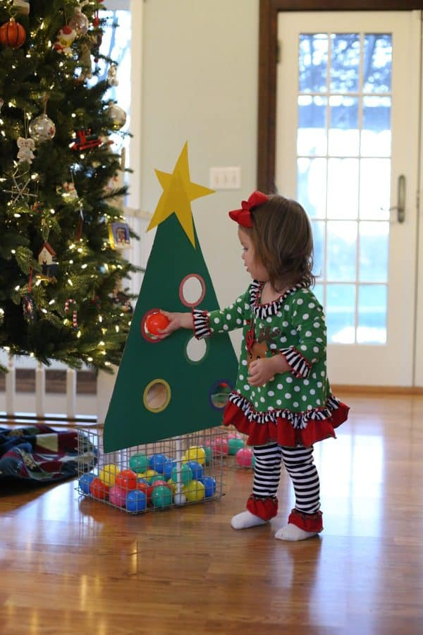 Christmas Tree Ball Sort for Toddlers - I Can Teach My Child!