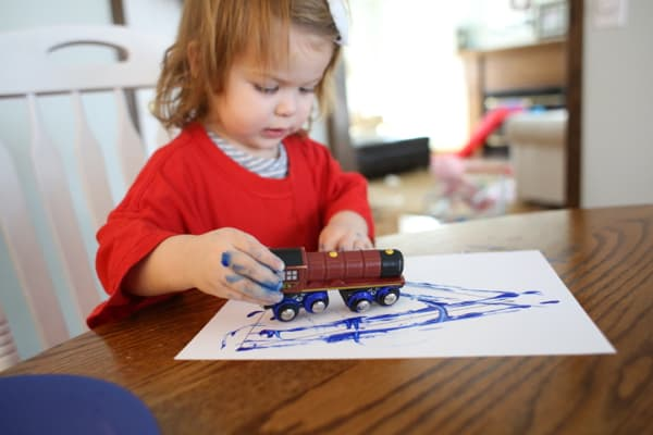 Painting Shapes with Trains