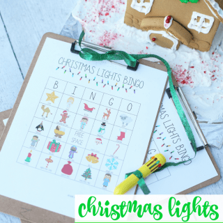 Printable Christmas Lights Bingo Game