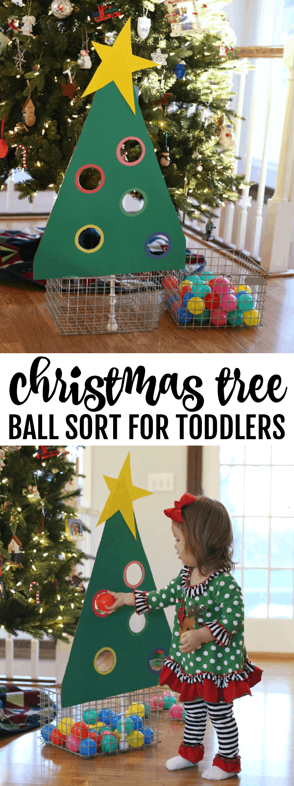 Christmas tree ball sort for toddlers i can teach my child for Christmas crafts for older kids