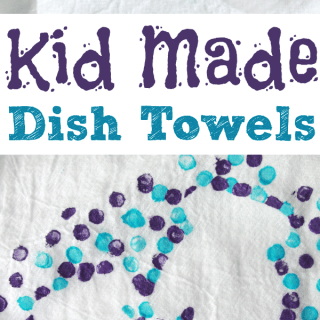 Kid-Made Dish Towels