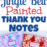 Jingle Bell Painted Thank You Notes