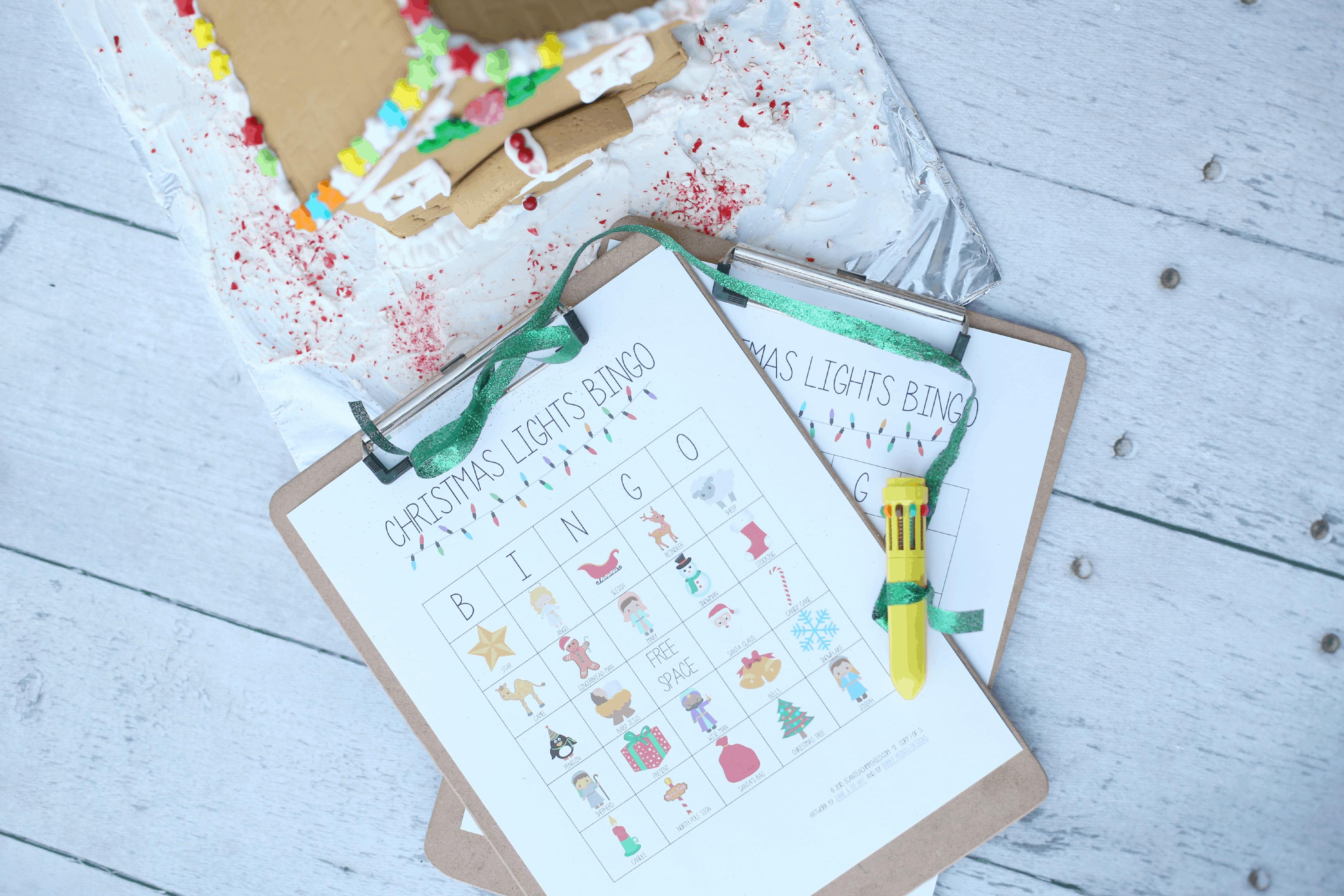 Printable Christmas Lights Bingo Game - I Can Teach My Child!