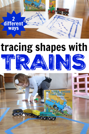 Tracing Shapes with Trains:  The Little Engine That Could Activity