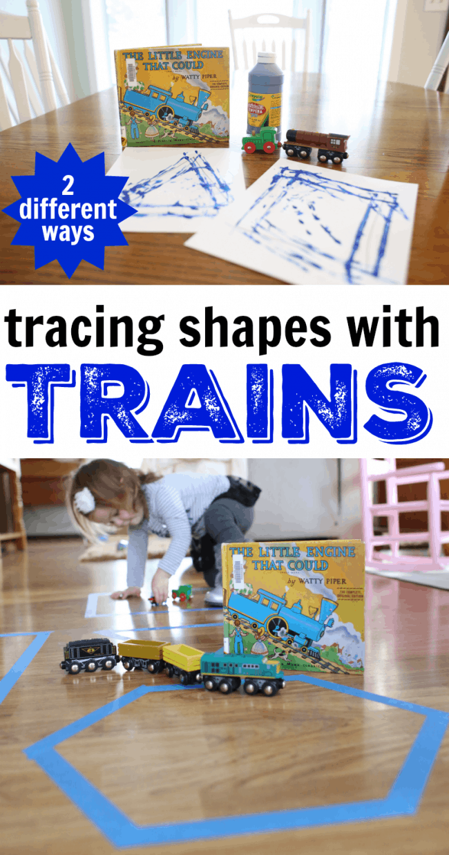 Tracing Shapes with Trains after Reading the Little Engine that Could