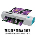 78% Off Scotch Thermal Laminator Today Only