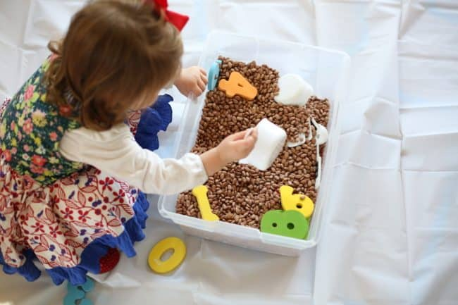 Bean Sensory Tub for Toddlers