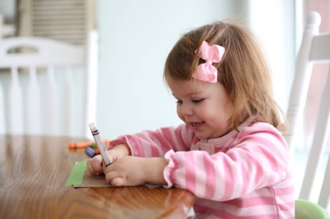 Coloring on Sandpaper for Toddlers