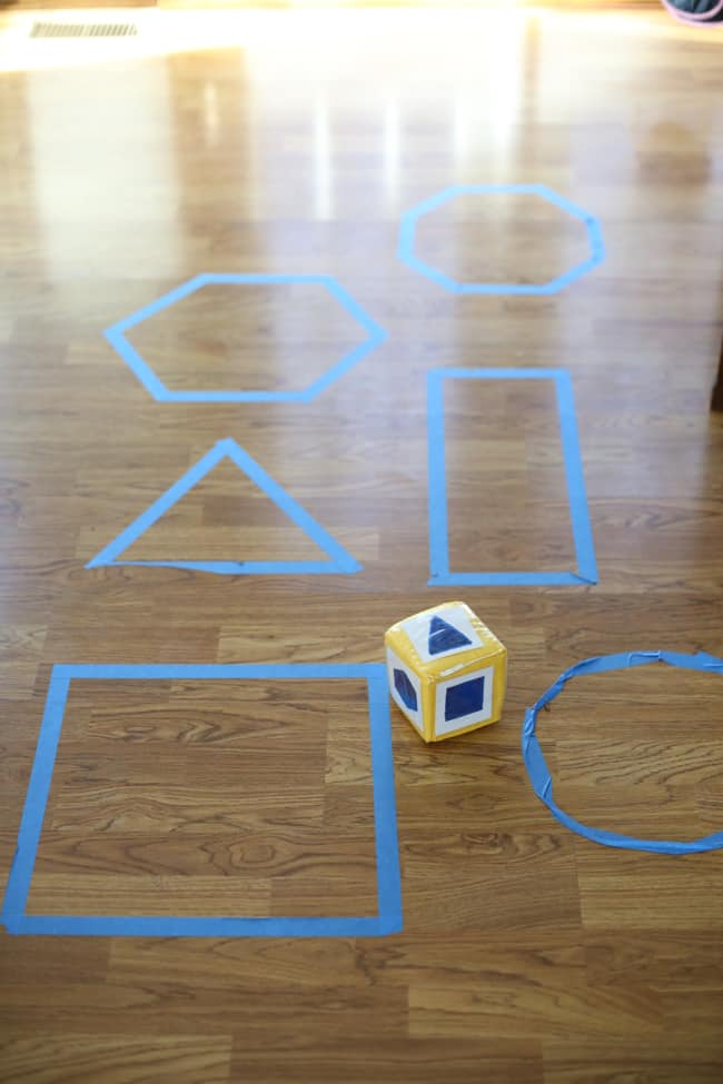 Roll Hop Shape Game For Toddlers I Can Teach My Child
